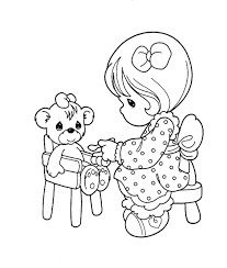 Precious Moments Was Playing Her Doll