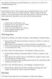 Delivery Driver Resume Stunning 5710 Professional Delivery Driver Templates To Showcase Your Talent