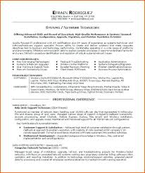 Systems Technician Cover Letter Sarahepps Com