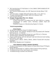 resume final Delphi Wiring Harness In Chennai Delphi Wiring Harness In Chennai #71 Trailer Wiring Harness
