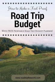 Road Trip Budget Template Free Road Trip Budget Planner