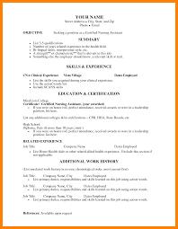 8 Certified Nursing Assistant Resume Templates Fillin Resume