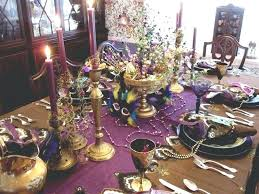 mardi gras table decorations i love this refined table purple and gold mardi gras party table