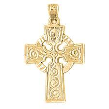 14k or 18k gold celtic cross pendant