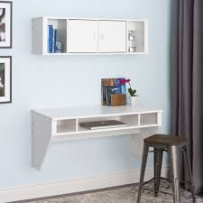Wall Shelves With Desk White Floating Desk With Storages Floating Cabinet Two Doors With
