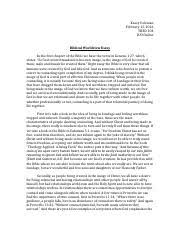 matthew hester biblical worldview essay biblical worldview 2 pages biblical worldview essay