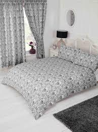 black grey white fl paisley damask design bedding duvet quilt cover set 10143 p jpg