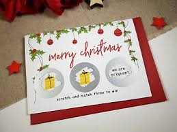 Christmas Pregnancy Announcement Card Scratch Reveal Idea