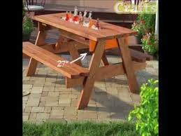 diy outdoor table with cooler. DIY Picnic Table With A Built In Cooler Diy Outdoor