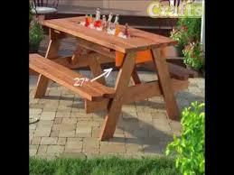 diy outdoor table with cooler. Exellent Diy DIY Picnic Table With A Built In Cooler With Diy Outdoor O