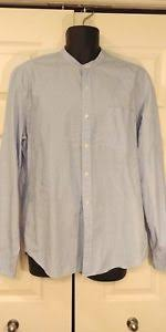 J Crew Men S Shirt Size Chart Details About J Crew Mens Button Up Dress Shirt Size Large Blue Down Rn 77388