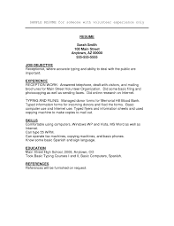 Job Resume Volunteer Experience Resume Cover Letter Example