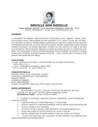 Sample Resume Summary For Freshers Elegant Sample Resume For Fresher