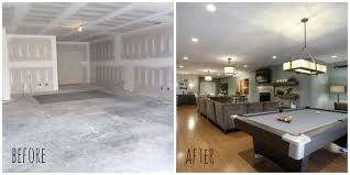 Unfinished Basement Before And After Tourcloud Finished Ideas Design N