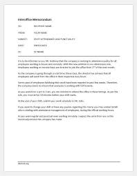 Examples Of Memos To Staff Sample Memos On Attendance And Punctuality Document Hub