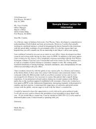 Sample Cover Letter For Internship Edit Fill Sign Online