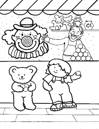 Carnival Coloring Images Carnival Games Coloring Pages Kids