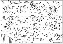 Small Picture Simple new year colouring pages Grootfeestinfo