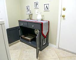 furniture to hide litter box. Cat Furniture Litter Box Cover Tree Combo Hide This To