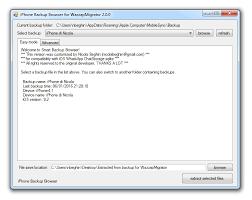 Iphone Backup Browser Angepasste Version Wazzapmigrator