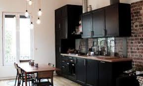 Cuisine Ikea Laxarby Cuisine Noire Et Bois Esprit Bistro Renovation