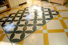Painted Floor Designs painting floors: savory patterns make a delicious  interior