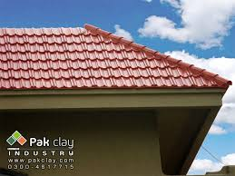 1 brown red clay glazed tiles roof home