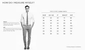 Male Jeans Size Chart The Best Style Jeans