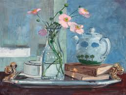how to paint a still life with anemones and teapot in gouache with kevin scully