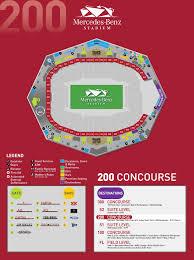 Memorable Georgia Dome Stadium Seating Chart Mercedes