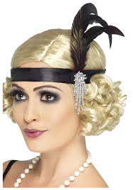 jeweled black flapper headband jpg feather headband1920s