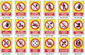 Señales de Prohibición - Suministro Industrial - Venta online 3M - Makita - Loctite - EPIs - Calzado de protección y seguridad - Ferreteria - Martillos - Atornilladores - Sierras - Amoladoras - Taladros peligro, incendio, riesgo electrico, electrico, salida, emergencia, subsuelo, caida a distinto nivel, gafa, obligatorio, prohibido