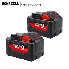 A new high output battery has milwaukee fans rejoicing. Bonacell 18v 9000mah M18 Xc Li Ion Replacement Battery For Milwaukee 48 11 1815 M18b2 M18b4 M18bx L50 Priparax Com
