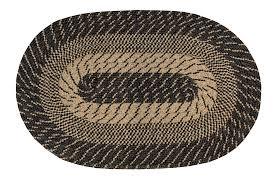 m nylon black sand braided rug