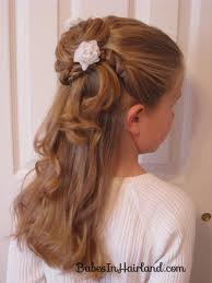 Flower Hair Style twisted flower girl hairstyle babes in hairland 4556 by wearticles.com