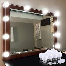 Mirror With Lights Ebay Details About 10 Bulbs Hollywood Style Led Vanity Mirror Lights Lamp For Makeup Dressing Us
