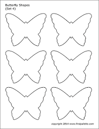 Butterfly Shapes Free Printable Templates Coloring Pages