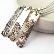 inked fingerprint ingot necklace