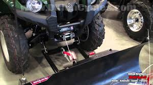warn winch & plow blade demonstration yamaha grizzly 550 2016 Yamaha Grizzly 350 at 2016 Yamaha Grizzly Wire Lead Harness