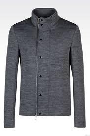 emporio armani blouson in jersey by men s grey