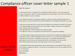 Gallery Of Legal Compliance Officer Cover Letter Audit Specialist
