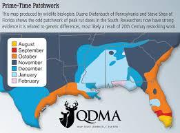 Organized Mississippi Deer Rut Chart 2019