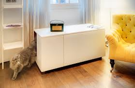 Decorative Cat Litter Box Covers The Catteux litter box cabinet for cats with style 43