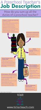 best ideas about job description business preschool teacher s job description infographic
