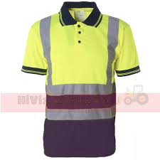 Hi Vis T Shirt Design Hi Viz Collared Polo Shirt New Design In Yellow Navy