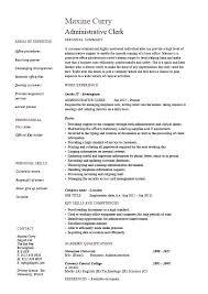 sample resume office clerk clerical resume template administrative clerk  resume clerical sample template job ideas sample