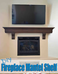Create that room focal point that you've been dreaming about. DIY fireplace  mantel