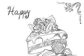 Piece Of Birthday Cake In Sketch Illustrations Creative Market