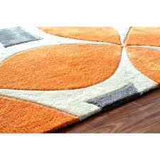 navy orange rug blue