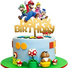 It was a mario themed party and he wanted super mario brothers on his cake. Amazon Com Mario Cake Decorations